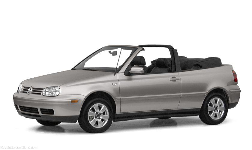 Фото 2001 Volkswagen Cabrio 2dr Convertible shown Volkswagen Cabrio
